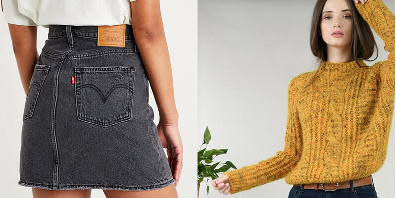 tenue avec jupe jean