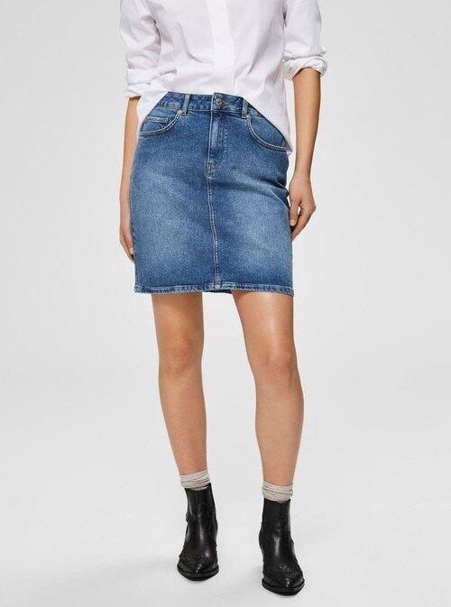 tenue jupe en jean