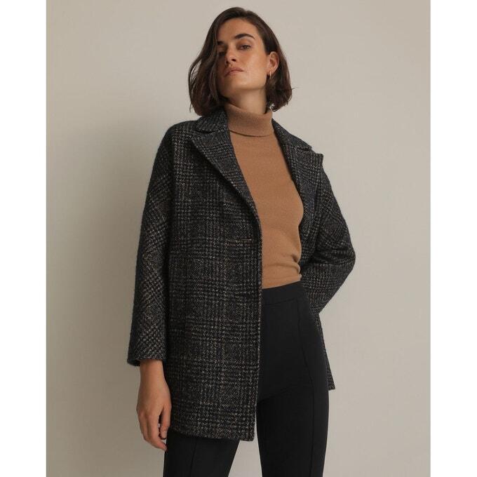 tenue manteau carreaux