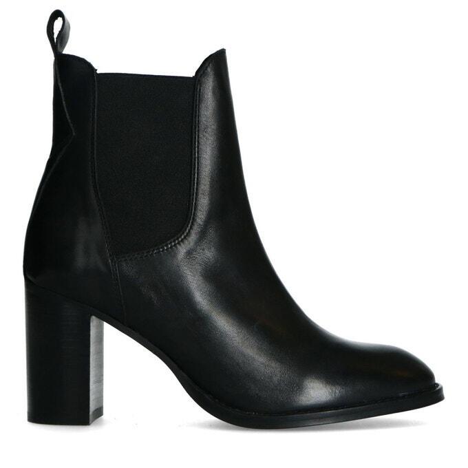 bottines à talons noir femme