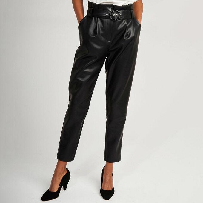 tenue pantalon cuir femme