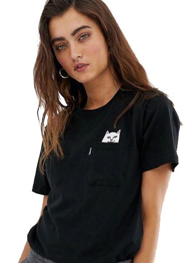 tee_shirt_noir_avec_poche_logo_chat