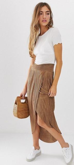 jupe-mi-longue-plisee-marron-taille-croisee