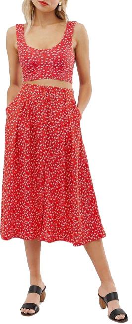 jupe-midi-rouge-motif-fleurs