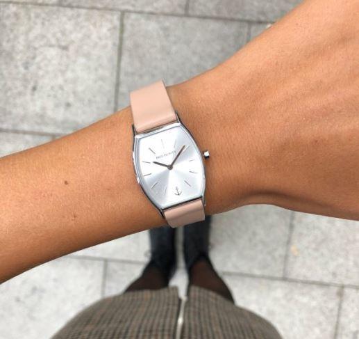 montre-silver-sunray-acier-bracelet-cuir