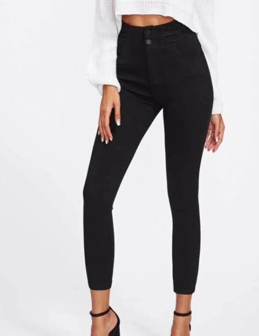 tenue été tendance jean noir