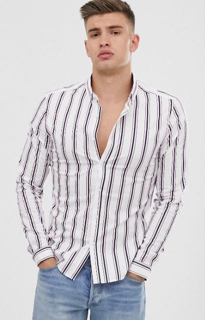 chemise-blanche-a-rayures