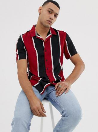 chemise-ete-a-rayure-rouges-noires-blanches
