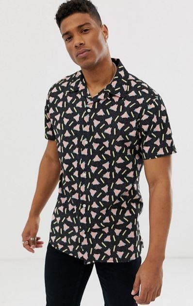 chemise-jack-and-jones-motif-triangle