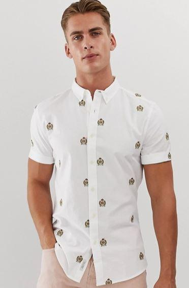 chemise-river-island-ecussons-brode
