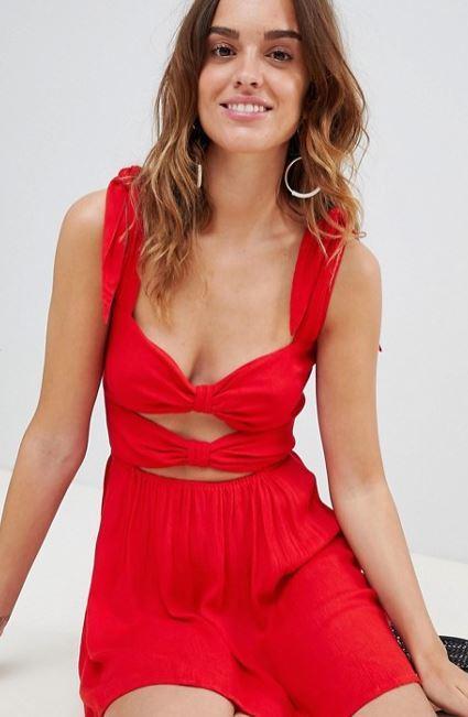 robe-rouge-courte-noeud-avant