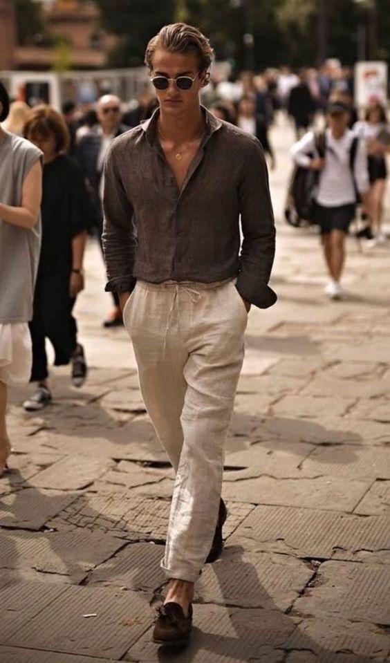 tenue-pantalon-en-lin-homme