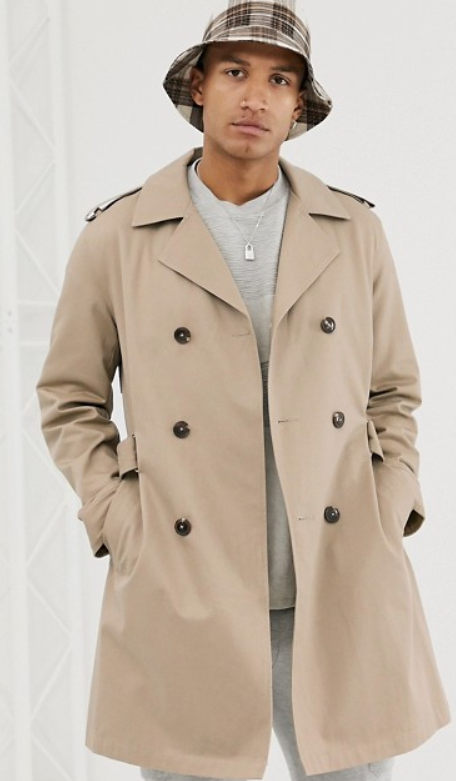 Trench Coat beige pour homme