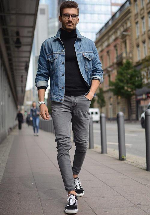 Veste en jean pour s'habiller en automne