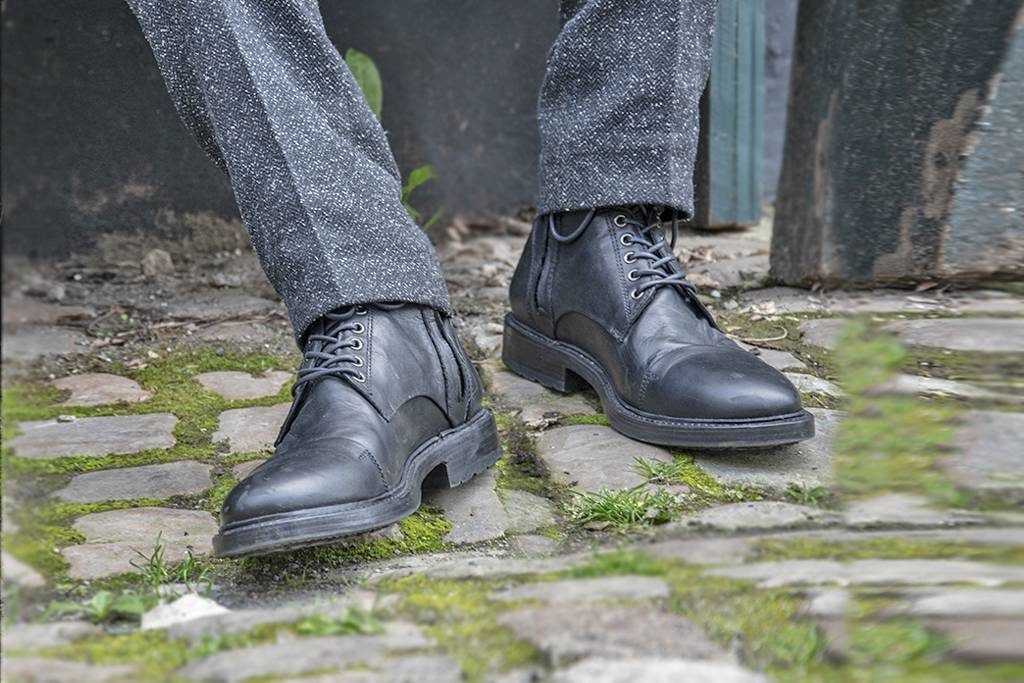 bottines en cuir peaky blinders