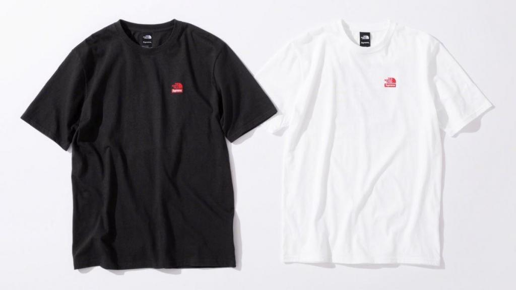 tshirt supreme x the north face