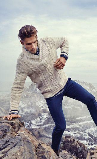 bien s'habiller en hiver cardigan homme