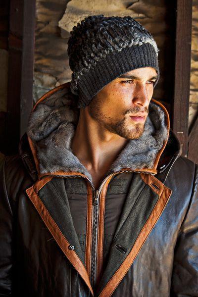 tenue d'hiver pour homme avec bonnet