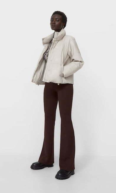 tenue hiver femme avec doudoune