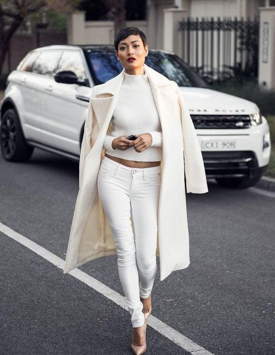total look blanc femme avec jeans