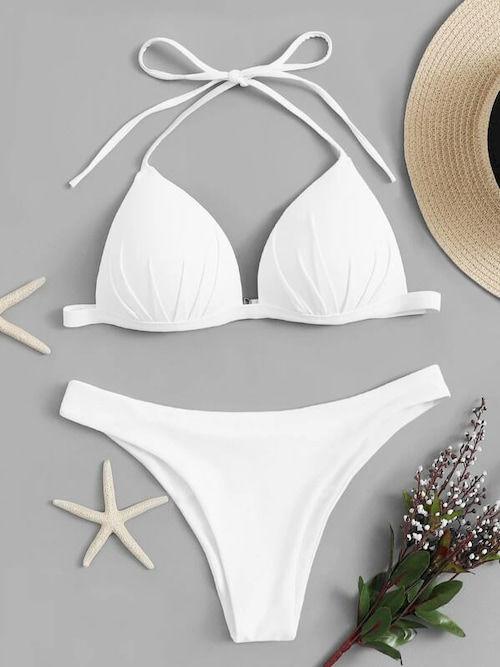 ensemble bikini blanc tendance