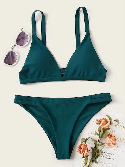 ensemble bikini vert