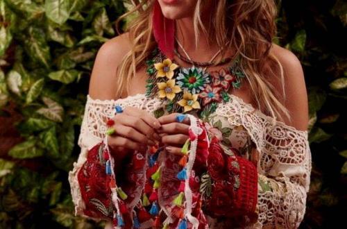 look hippie femme