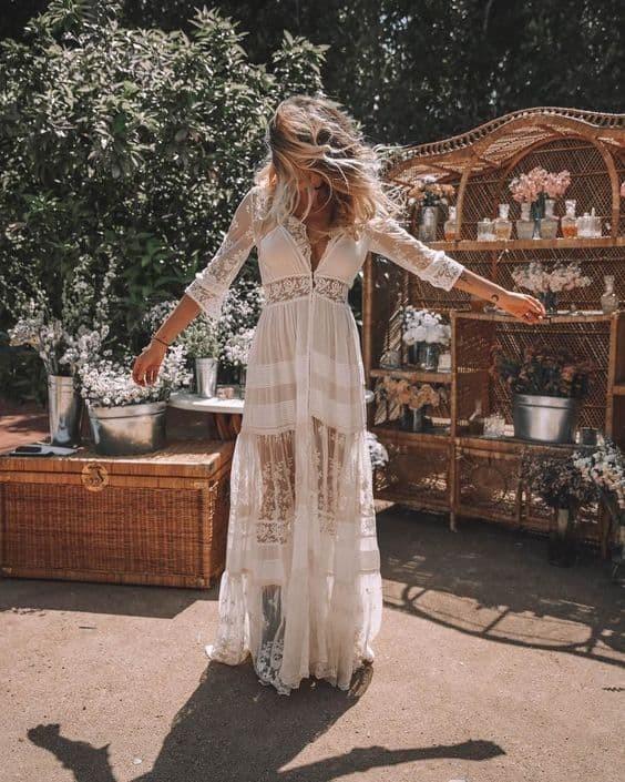 robe blanche boheme