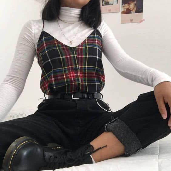 tenue lycéenne vintage