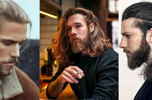 cheveux long homme