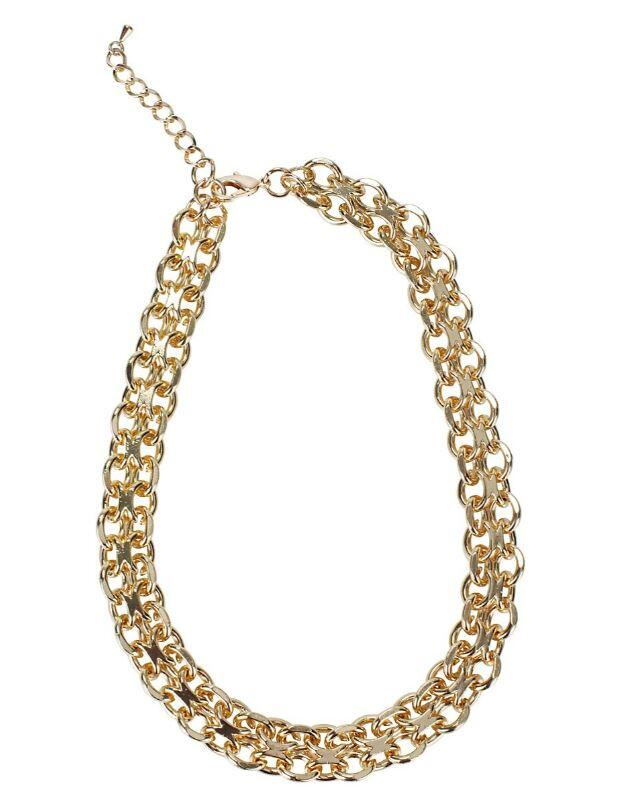 collier choker chaine or