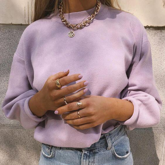 look pastel vintage
