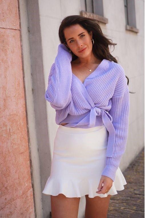tenu pastel violet