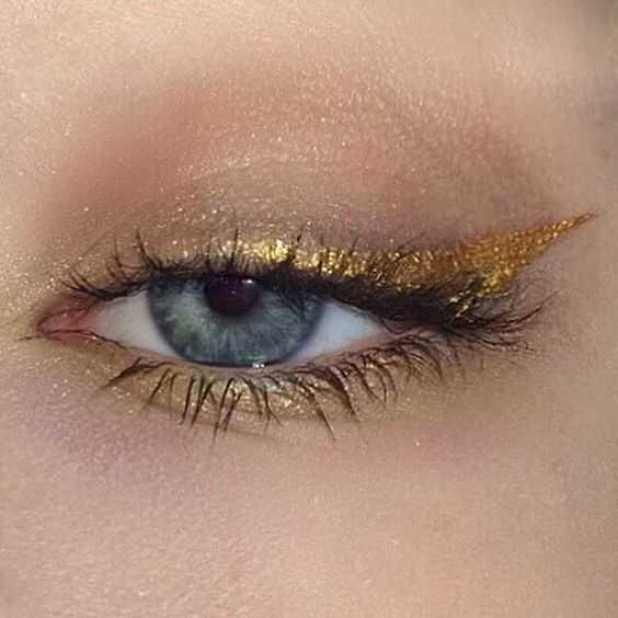 maquillage fêtes doré