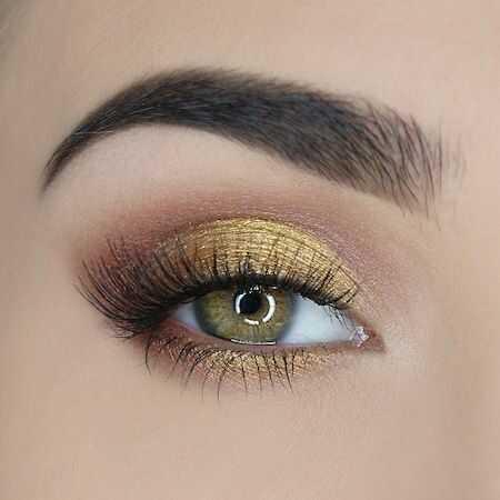 maquillage soirée doré