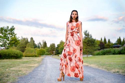 porter robe longue femme