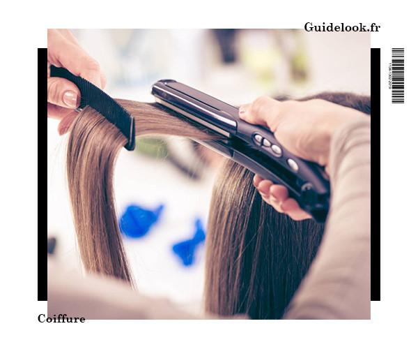 cheveux lissés naturellement