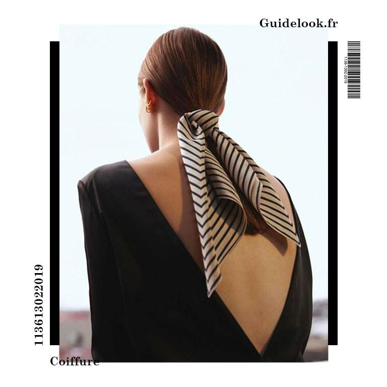 coiffure avec foulard