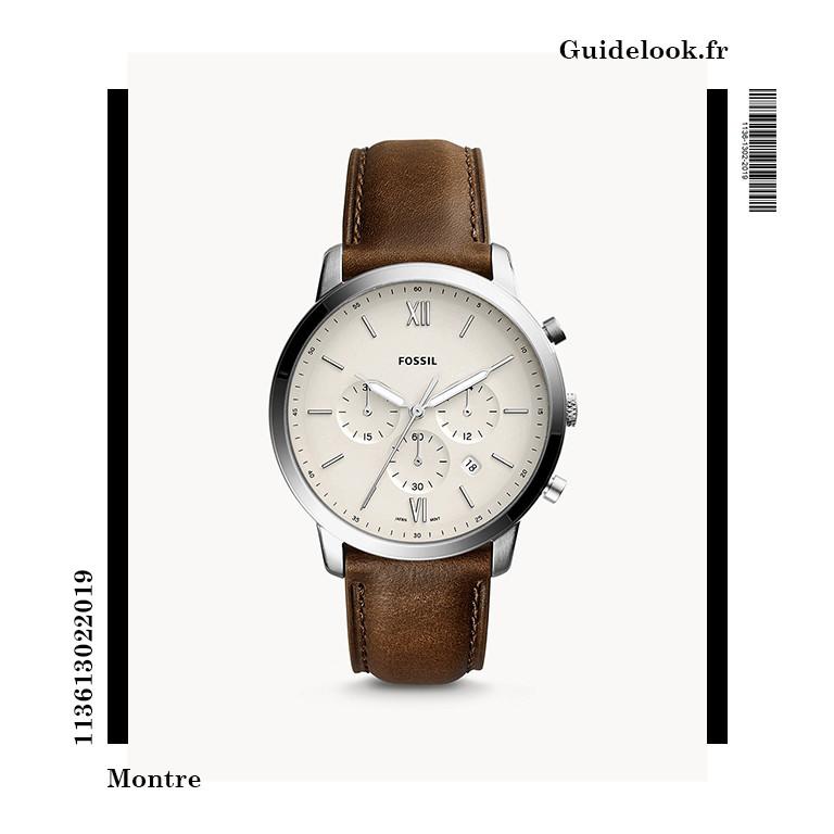 montre fossil quartz neutra chronographe