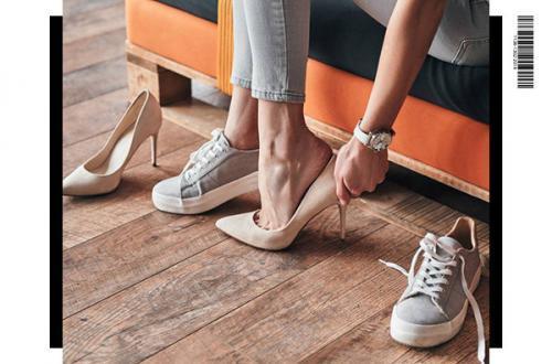 chaussure cuir femme